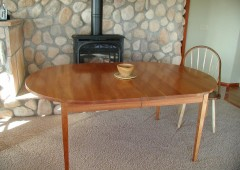 Cherry Dining Table with Windsor Chair