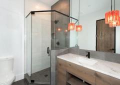 Custom cabinets highlight stunning natural materials