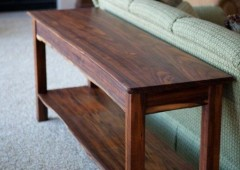 Live Edged Walnut Sofa Table
