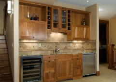 Custom designed cherry kitchen
