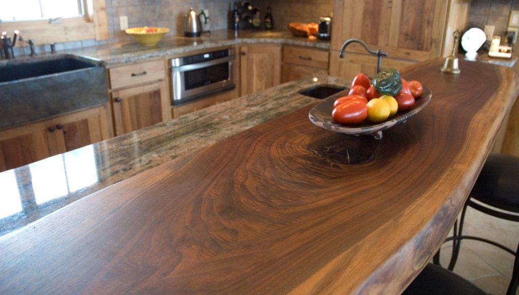 Chestnut And Walnut Slab Custom Cabinetry T Scholl Fine