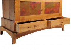 Full Grain Matched Drawer Fronts