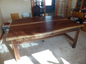 Walnut Partner Desk