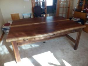Walnut Partner Desk
