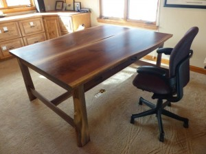 Book Matched Partner Desk