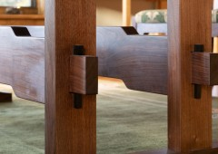 Carefully crafted joinery will ensure the table lasts for generations