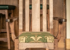 Custom crafted walnut arm chair
