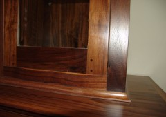 Walnut Dining Table, Buffet and Chairs