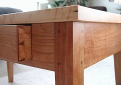 Bird's Eye Maple Puzzle Table Hand Cut Dove Tailed Drawers
