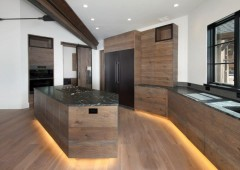 Frameless cabinetry for seamless look