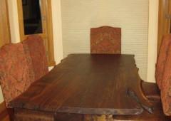 Clark Walnut Slab Dining Table