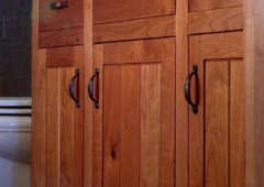 Inset Cherry with Pegged Shaker Doors