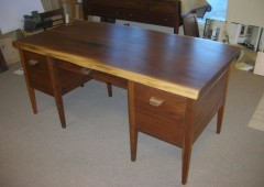 Live Edged Walnut Desk with File Cabinet Drawers