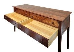 Reclaimed Walnut Huntboard with Hand Cut Dove Tailed Drawers