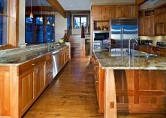 Custom designed cherry kitchen