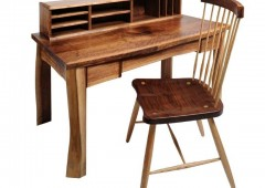 Walnut Writing Desk and Chair