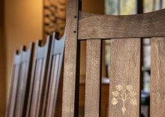 Inlay adds distinct character to the chairs