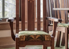 Custom crafted walnut chair